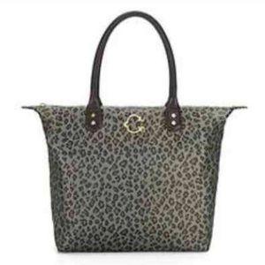 C WONDER~Leopard Print Easy Tote Bag Purse